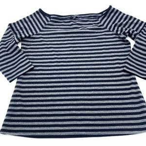 The Limited Striped Blouse 3/4 Sleeve